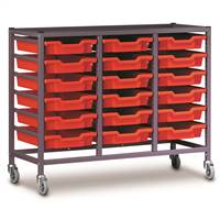 Triple Column Gratnells Trolley With Trays