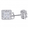 64016 SQUARE CZ STERLING SILVER EARRINGS