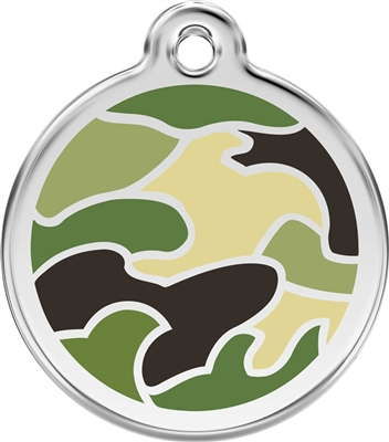Red Dingo Large Camouflage Tag