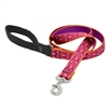 "LupinePet 1"" Alpen Glow 4' Padded Handle Leash"