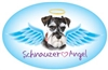 Schnauzer Angel Oval Magnet - A53