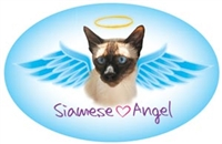 Siamese Angel Oval Magnet - A74