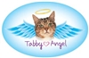 Tabby Angel Oval Magnet - A75