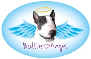 Bull Terrier Angel Oval Magnet - A86