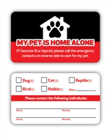 Emergency Pet Card - Made in the USA