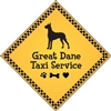 "Great Dane Taxi Service Magnet 9"" - YPT16-9"