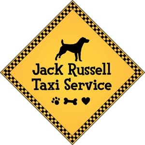 "Jack Russell Taxi Service Magnet 9"" - YPT19-9"