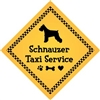"Schnauzer Taxi Service Magnet 9"" - YPT28-9"