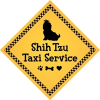 "Shih Tzu Taxi Service Magnet 9"" - YPT30-9"