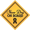 "Show Dog on Board Magnet 9"" - YPT31-9"