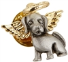 Dog Angel Pin with Gold Tone Halo
