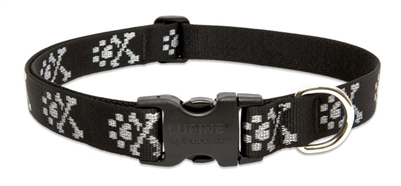 "Lupine Originals 1"" Bling Bonz 16-28"" Adjustable Collar for Medium and Larger Dogs"