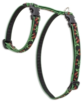 "Retired Lupine 1/2"" Black Cherry 9-14"" H-Style Harness"