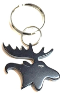Bison Designs Black Moose Key Chain - Bottle Opener