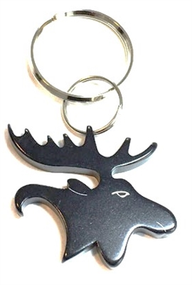 Bison Designs Black Moose Keychain - Bottle Opener