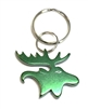 Bison Designs Green Moose Key Chain - Bottle Opener