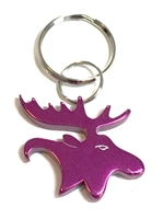 Bison Designs Pink Moose Keychain - Bottle Opener