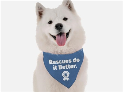 Bandoggies Rescues do it Better Bandana - Small