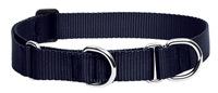 "Lupine 1"" Black 15-22"" Martingale Training Collar"