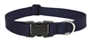 "LupinePetPet Basic Solids 1"" Black 16-28"" Adjustable Collar for Medium and Larger Dogs"
