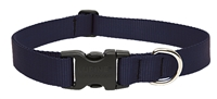 "LupinePet Basic Solids 1"" Black 16-28"" Adjustable Collar for Medium and Larger Dogs"
