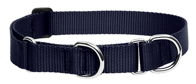 "Lupine 1"" Black 19-27"" Martingale Training Collar"