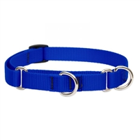 "Lupine Solid 1"" Blue 19-27"" Martingale Training Collar"