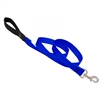 "Lupine 1"" Blue 4' Padded Handle Leash"
