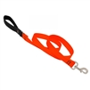 "Lupine 1"" Blaze Orange 4"" Padded Handle Leash"