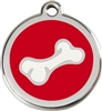 Red Dingo Large Bone Tag