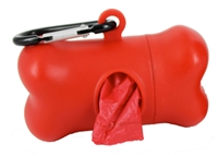 Doggie Walk Bags - Bone Dispenser - Red