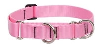 "Lupine 1"" Pink 15-22"" Martingale Training Collar"