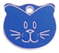 Boomerang Cat Face Tag - Plastic