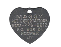Boomerang Heart Tag - Stainless Steel