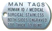 "ManTagâ""¢: Human I.D. Tag - Military"