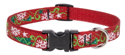 "Retired Lupine 3/4"" Christmas Cheer 15-25"" Adjustable Collar - Medium Dog"