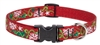 "Retired Lupine 3/4"" Christmas Cheer 9-14"" Adjustable Collar - Medium Dog"