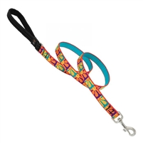 "Lupine 3/4"" Crazy Daisy 6' Padded Handle Leash"