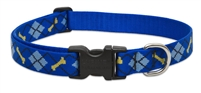 "LupinePet Originals 1"" Dapper Dog 16-28"" Adjustable Collar for Medium and Larger Dogs"
