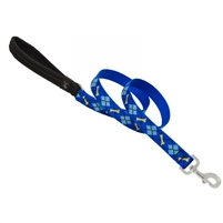 "LupinePet 1"" Dapper Dog 4' Padded Handle Leash"