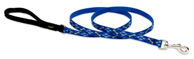 "Lupine 1/2"" Dapper Dog 4' Padded Handle Leash"