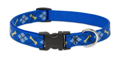 "Lupine 3/4"" Dapper Dog 9-14"" Adjustable Collar"
