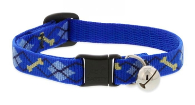 "Lupine 1/2"" Dapper Dog Cat Safety Collar with Bell"