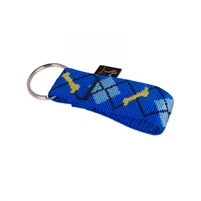 "Lupine  1"" Dapper Dog Keychain"