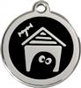 Red Dingo Medium Dog House Tag