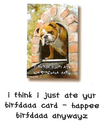 Dog Speak Birthday #1003