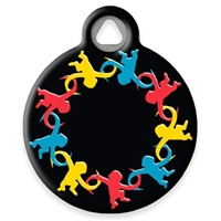 Dog Tag Art Lupine Monkey Business- DTA-MB649