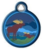 Dog Tag Art Lupine Moose Mania - DTA-MB638
