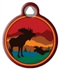 Dog Tag Art Lupine Moose on the Loose - DTA-36660