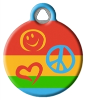 Dog Tag Art Lupine Peace Pup DTA-12090